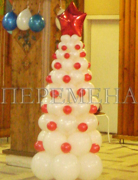 Композиция из воздушных шаров ЕЛКА 2м - цена 2500 руб., заказать в интернет-магазине Перемена