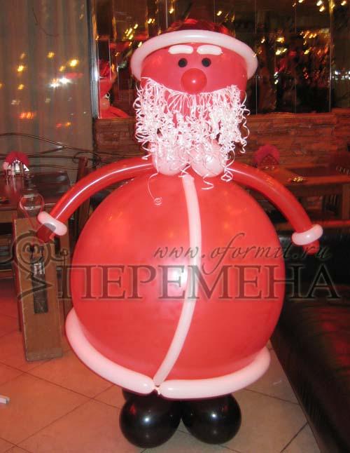 Деде мороз из воздушных шаров своими руками